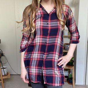 Zara   plaid shirt tunic